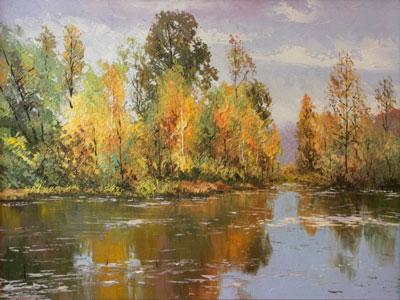 Подмосковный лес и река
